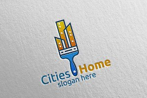 Home Painting Vector Logo Design 10