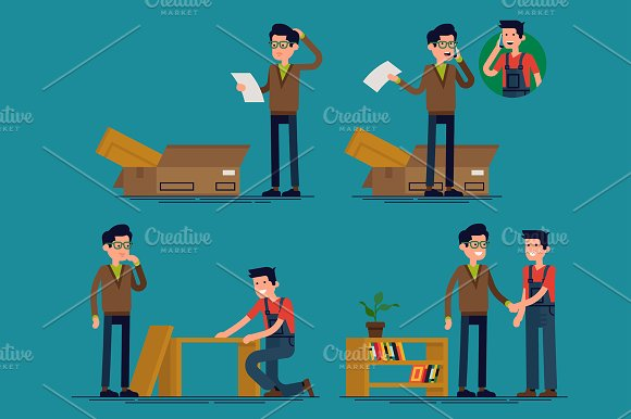Flat Characters: Furniture Assembly
