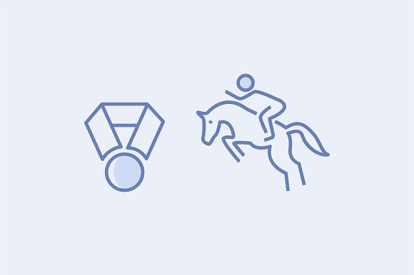 15 Horse Racing Icons in Graphics - product preview 1