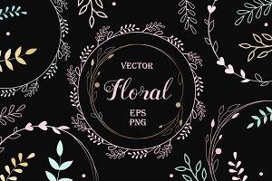 Floral frames EPS