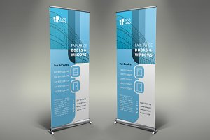 Doors & Windows Roll Up Banner #081