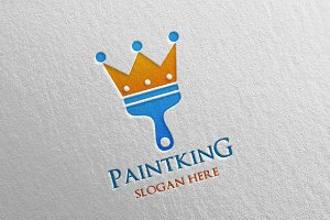 King of Home Painting Vector Logo