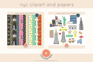 new york city clipart and papers