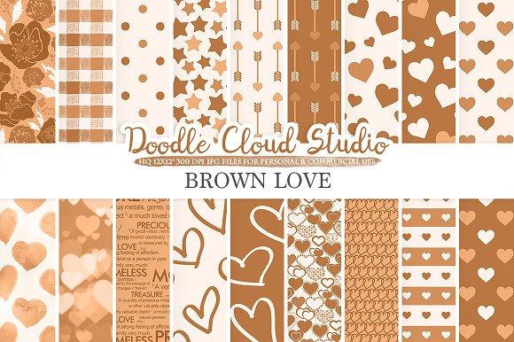 Brown Romantic Digital Paper