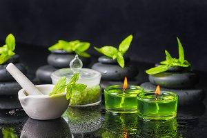 spa background of zen stones