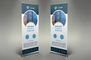 Doors & Windows Roll Up Banner