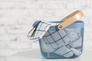 basket for towels