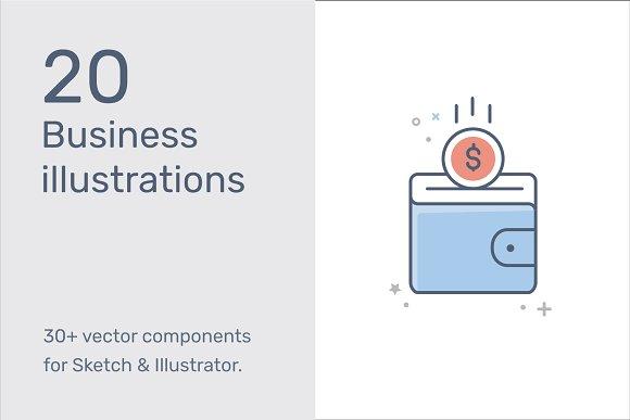 Business Finance Illustrations