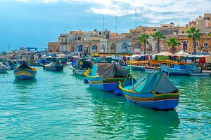 harbor with village Marsaxlokk