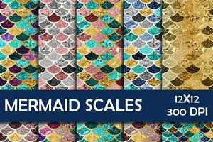 Mermaid Scales Digital Paper