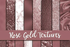 Rose Gold Textures Digital Paper