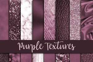 Purple Textures Digital Paper