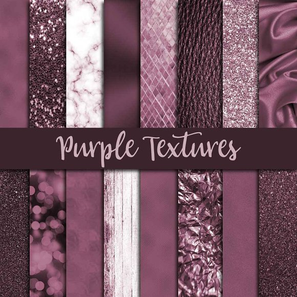 Purple Textures Digital Paper