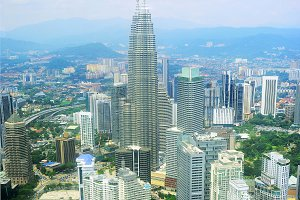 Kuala Lumpur Top View KLCC