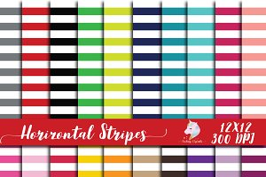 Horizontal Stripes Digital Paper