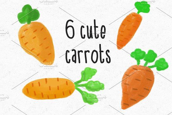 6 Cute Carrots