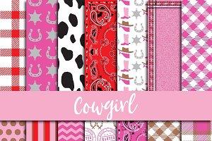 Cowgirl Digital Paper