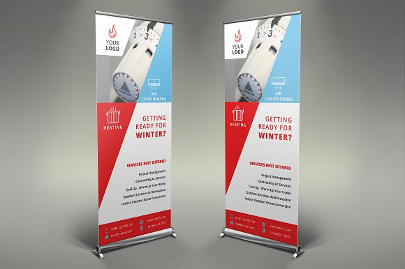 Heating Services Roll Up Banner #085