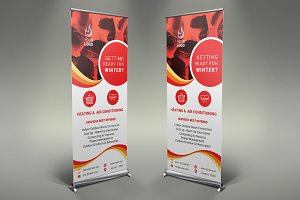 Heating Services Roll Up Banner #086
