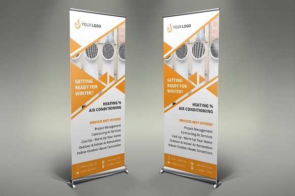 Heating Services Roll Up Banner #087