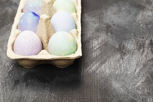 Multicolored eggs for Easter