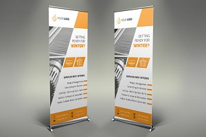 Heating Services Roll Up Banner #088