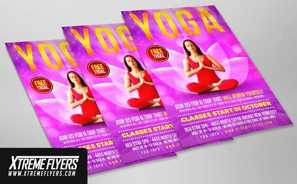 Yoga Flyer. Yoga Flyer Template Flyer Templates Creative Market ...