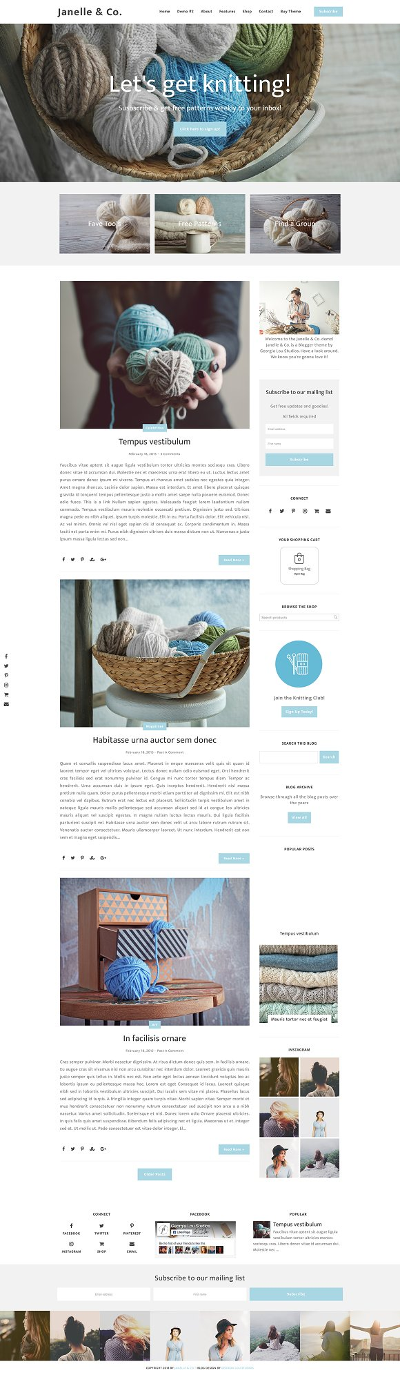 Responsive Blogger Template Janelle