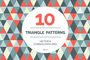 10 seamless triangle patterns vol 01