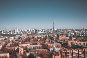 Tilt-shift urban landscape