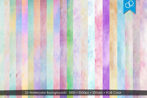 22 Watercolor Backgrounds