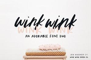 Wink Wink Font Duo