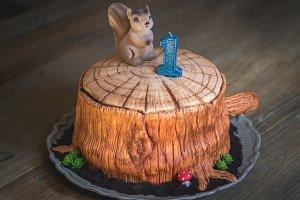 Cute Woodland Cake
