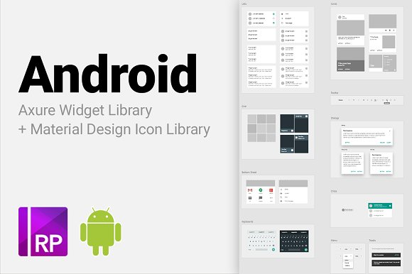 Android Axure Widget Library ~ Website Templates ~ Creative Market