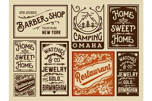 Old advertisement designs