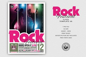 Rock Festival Flyer Template V6
