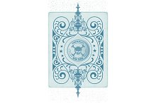 Retro design with engraving