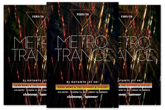Metro Trance Flyer