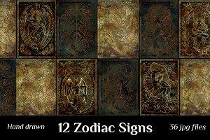 Mystic Zodiac Symbols