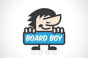 Board Boy Logo Template