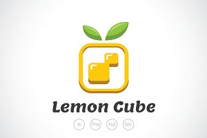 Lemon Cube Logo Template