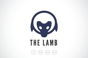 The Lamb Logo Template