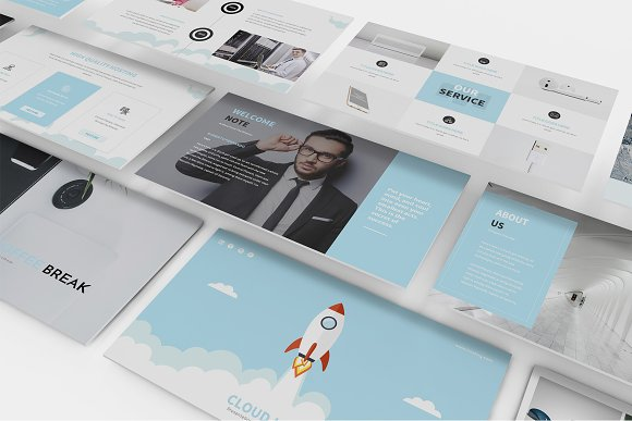 Hosting SEO Powerpoint Template