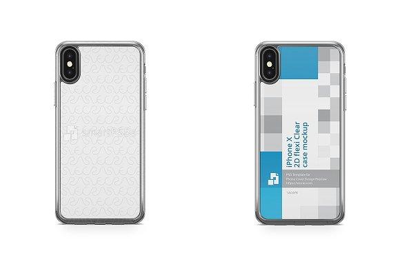 Apple IPhone X 2d Flexi Clear Case