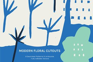 Floral Cutout | Artboards + Patterns