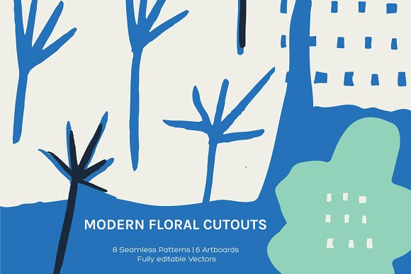 Floral Cutout Artboards Patterns