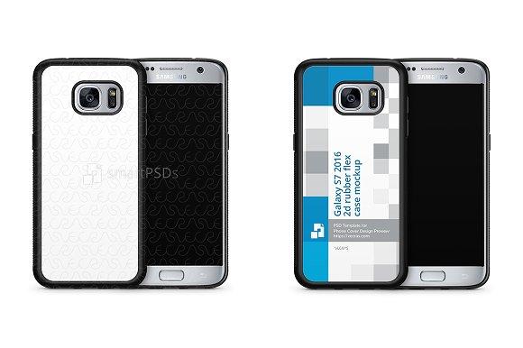 Galaxy S7 2d RubberFlex Case Mockup