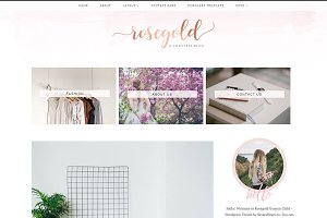 Rosegold Wordpress Theme