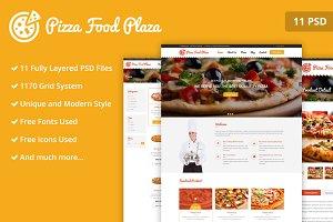 Pizza Food Plaza PSD Web Template