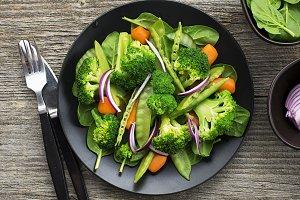 Vegetarian dinner snack salad of bro